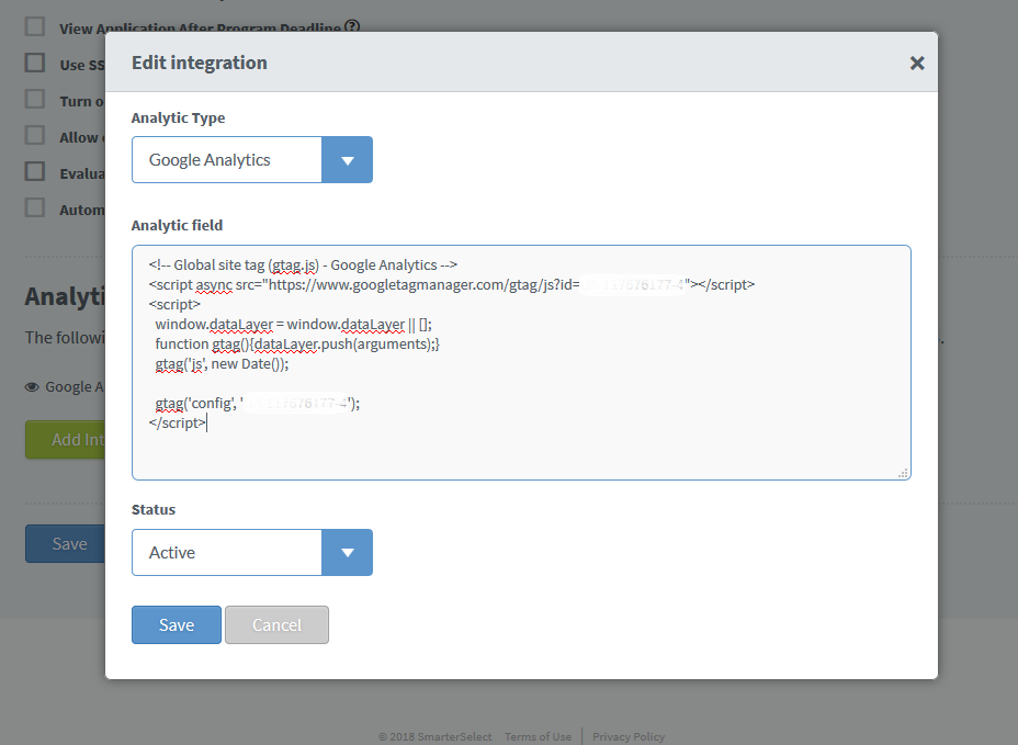 Integration - Example of script